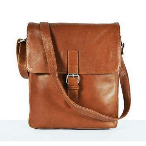 Brown Men Leather Side Bag 321ab1149209