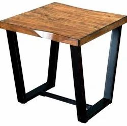 Rubra Wooden Table, Size: 24 x 24 x 24 Inch