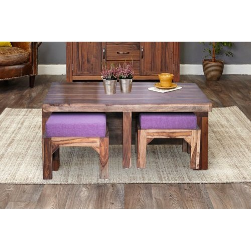 Coffee Table With Stools.Oswald Wooden Coffee Table With Stools By Trendsbee