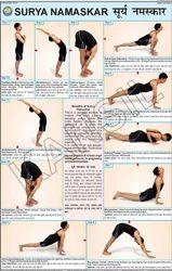 Surya Namaskar For Yoga Chart