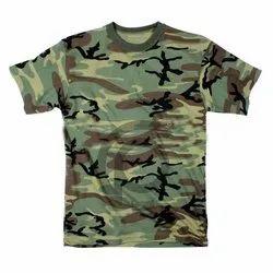 220  GSM Cotton Camouflage Round Neck T Shirt