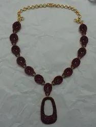 Black Spinal Studded 925 Sterling Silver Necklace