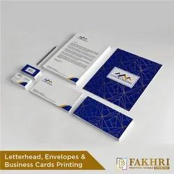 White Wood Multi Color Paper Corporate Stationery Printing Service