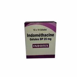 Indomethacine Gelues BP 25 Mg, Packaging Type: Box, 10 X 10 Gelules