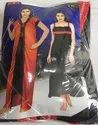 Red Black Satin 2pice Gown