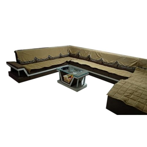 Designer Wooden U Shape Sofa Set, Warranty: 1 Year