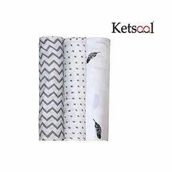 Plain Ketsaal Cotton Baby Muslin Swaddle, Packaging Type: Roll