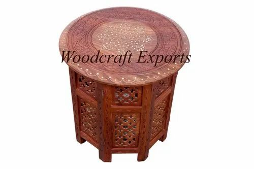 Brown Round Wooden Fancy Table