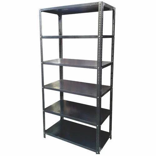 Dark Grey Slotted Angle Racks Or Metal Racks, For Warehouse