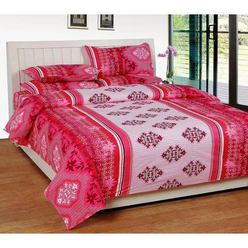 Awesome Sticker Tagging With Brand Name In PVC E Divin E Plain Cotton Bed Sheets