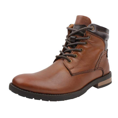 Mens High Ankle Leather Brown Boot 4bb0c7de5