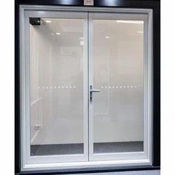 White Aluminum Glass Door