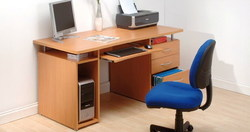 leon Wooden Computer Tables, for office, Warranty: 1 Year