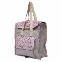 Printed Jute Backpack Bag