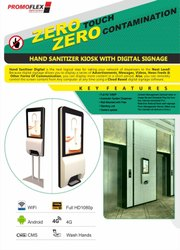 Waterless Sanitizer Dispenser Kiosk For Office