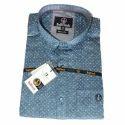 Cotton Mens Slim Fit Printed Shirt