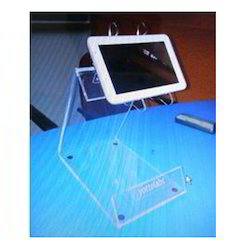 Free Standing Unit Mobile Acrylic Display Stand