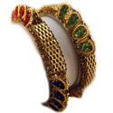 Brass Bangles Peacock Style