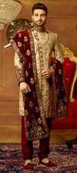 Mans Sherwani Embroidery Fabric