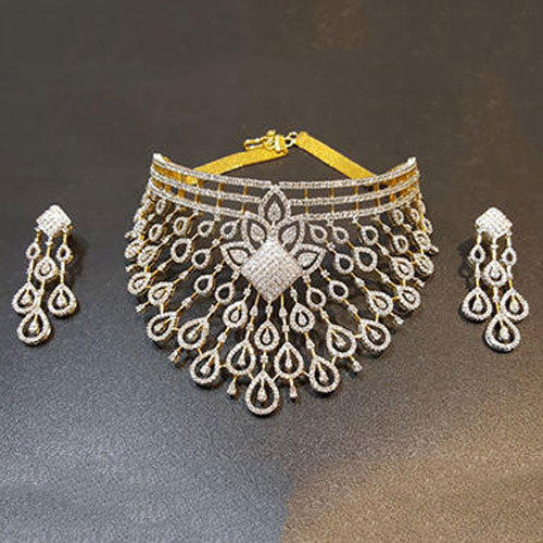 efeffd9a4a Diamond Necklace Set - Ladies Diamond Necklace Set Manufacturer from ...