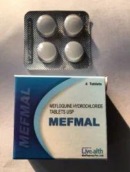 Mefmal Mefloquine HCl Tablets 250mg, Livealth, Packaging Type: Strip