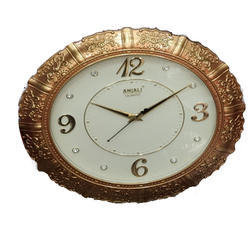 Quartz Black Wall Clock, For Home, Model Name/Number: Vary