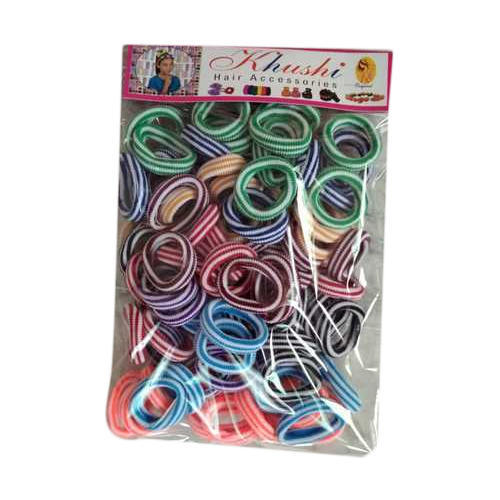 Double Colored Hair Rubber Bands ब ल क रबड