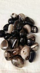 Black White Onyx Pebbles
