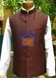 Cotton Blended Nehru Jacket Manyavar