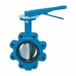 CI Lever Operated Lug Type Butterfly Valve