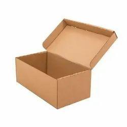 Plain Corrugated Shoe Packaging Box