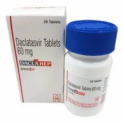 Daclatasvir 60 Mg Daclahep Tablet, 28 Tab, HETERO