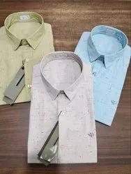 Linen Collar Neck Dior Mens Printed Shirt