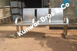 3 Seater Airport Waiting Chair Stainless Steel 304grade