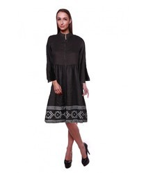 Ladies rayon print dress