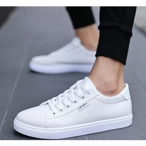 Well Feet White Canvas Casual Shoes