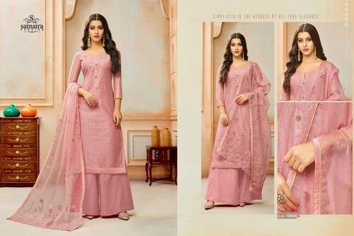 34df8420c5f Ladies Cotton Embroidered Pink Pakistani Suit