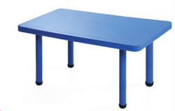 Blue Plastic+Metal PlayGro Rectangular Table, For Kids Table