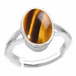 Tiger Eye Ring Women and Men Silver Gemstone