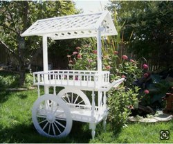 White Color Coated Decorative Cart, For Decoration, Size: 5 Ft