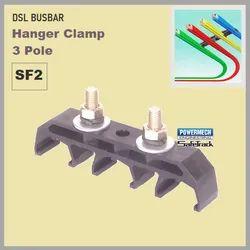SF2 Three Pole Safetrack DSL Busbar Hanger Clamp