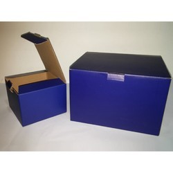 Blue Corrugated Box