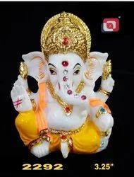 Artificial Gold Lord Ganesha Idol