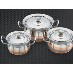 Economy Copper Line Ajanta Serving Bowl Set