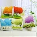Jute Digital Print Cushion Covers Set of 5