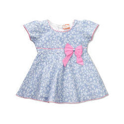 Cotton Party Wear Short Sleeve Baby Frock