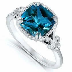 London Blue Topaz Engagement Rings