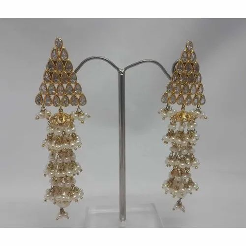 3a1a09ccfa716e Anmol Exports Gold, Pearl Gold 18K Long Pearl Jhumka Earring, Rs 750 ...