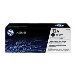 HP 12x Black Original Laserjet Toner Cartridge