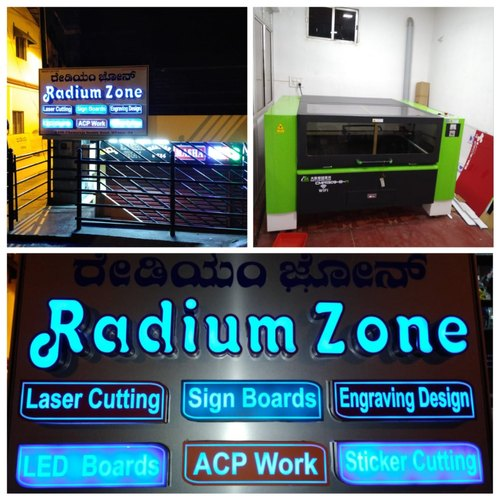 Led Aluminum Sign Borads, Shape: Rectangular